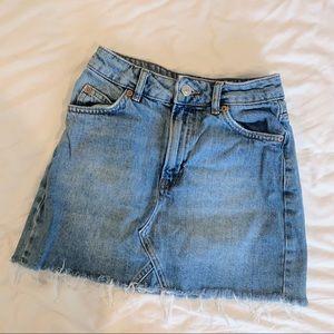 Topshop Moto Denim Mini Skirt size XXS/XS